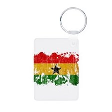 Ghana Flag Aluminum Photo Keychain