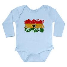 Ghana Flag Long Sleeve Infant Bodysuit