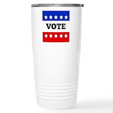 Vote, Super Block Star Thermos Mug