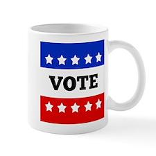 Vote, Super Block Star Small Mug