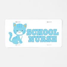 School Nurse Cat Aluminum License Plate