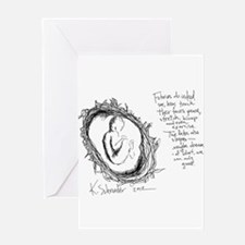 Baby in Womb Greeting Card