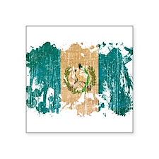 "Guatemala Flag Square Sticker 3"" x 3"""