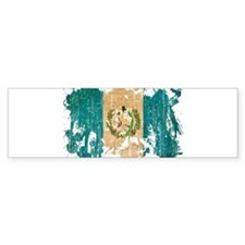 Guatemala Flag Bumper Sticker