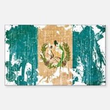 Guatemala Flag Sticker (Rectangle)