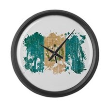 Guatemala Flag Large Wall Clock