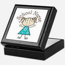 School Nurse Stick Figure Keepsake Box