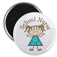 "School Nurse Stick Figure 2.25"" Magnet (10 pack)"