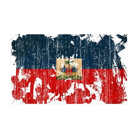 Haiti Flag 38.5 x 24.5 Wall Peel