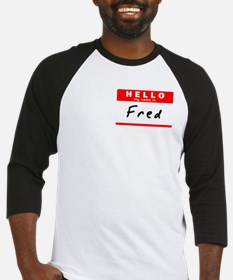 Fred, Name Tag Sticker Baseball Jersey