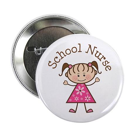 """School Nurse Stick Figure 2.25"""" Button (10 pack)"""
