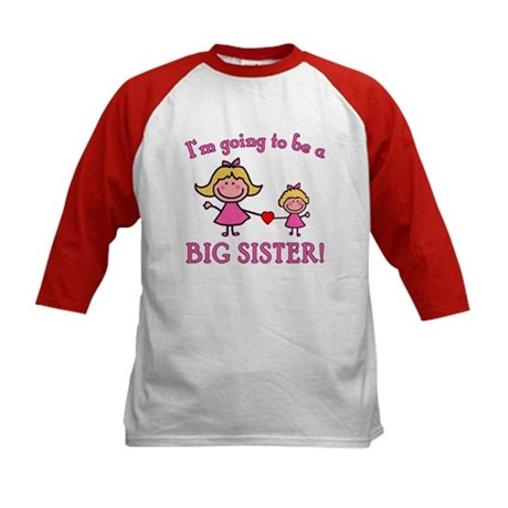 Going To Be a Big Sister Kids Baseball Jersey