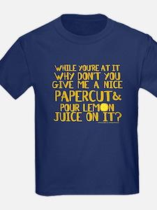 Lemon Juice Princess Bride Kids T-Shirt