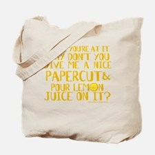 Lemon Juice Princess Bride Tote Bag