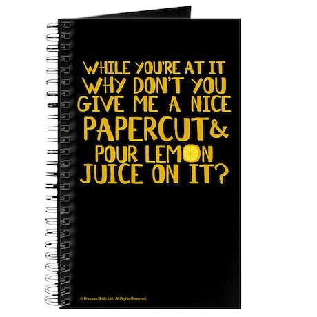 Lemon Juice Princess Bride Journal