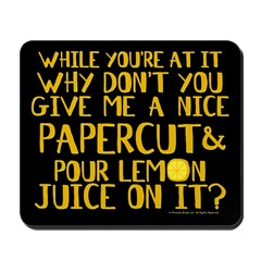 Lemon Juice Princess Bride Mousepad