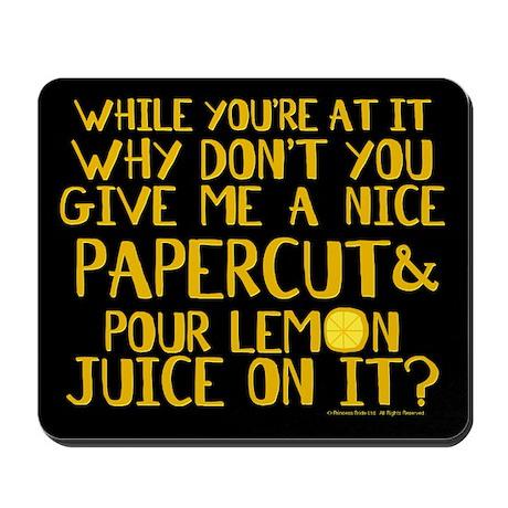 Lemon Juice Princess Bride Mousepad