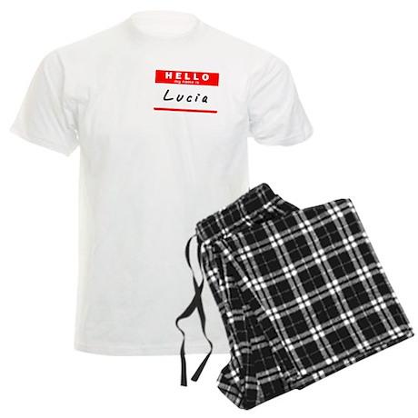 Lucia, Name Tag Sticker Men's Light Pajamas