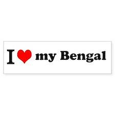 I (heart) Bengal Bumper Bumper Sticker