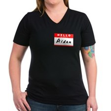 Aidan, Name Tag Sticker Shirt