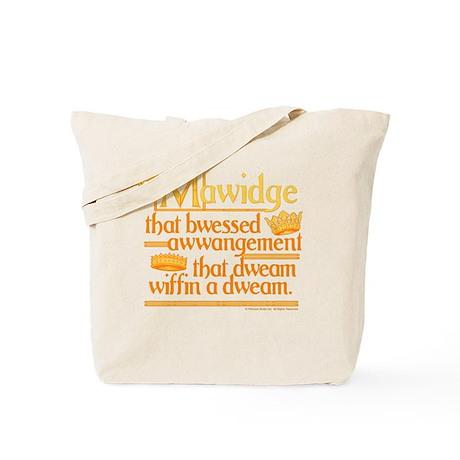 Princess Bride Mawidge Speech Tote Bag