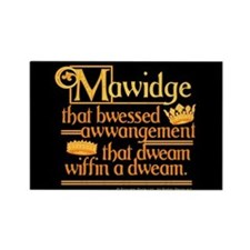 Princess Bride Mawidge Speech Rectangle Magnet