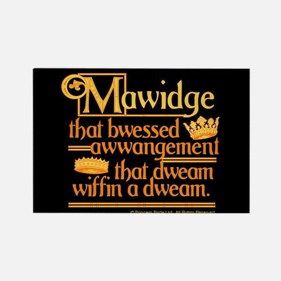 Princess Bride Mawidge Speech Rectangle Magnet