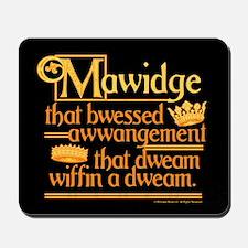 Princess Bride Mawidge Speech Mousepad