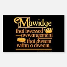 Princess Bride Mawidge Speech Decal