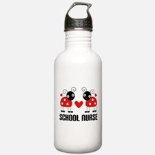 School Nurse Ladybug Water Bottle