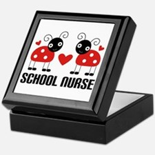 School Nurse Ladybug Keepsake Box