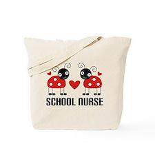 School Nurse Ladybug Tote Bag