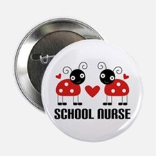 "School Nurse Ladybug 2.25"" Button"