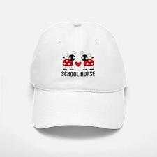 School Nurse Ladybug Baseball Baseball Cap