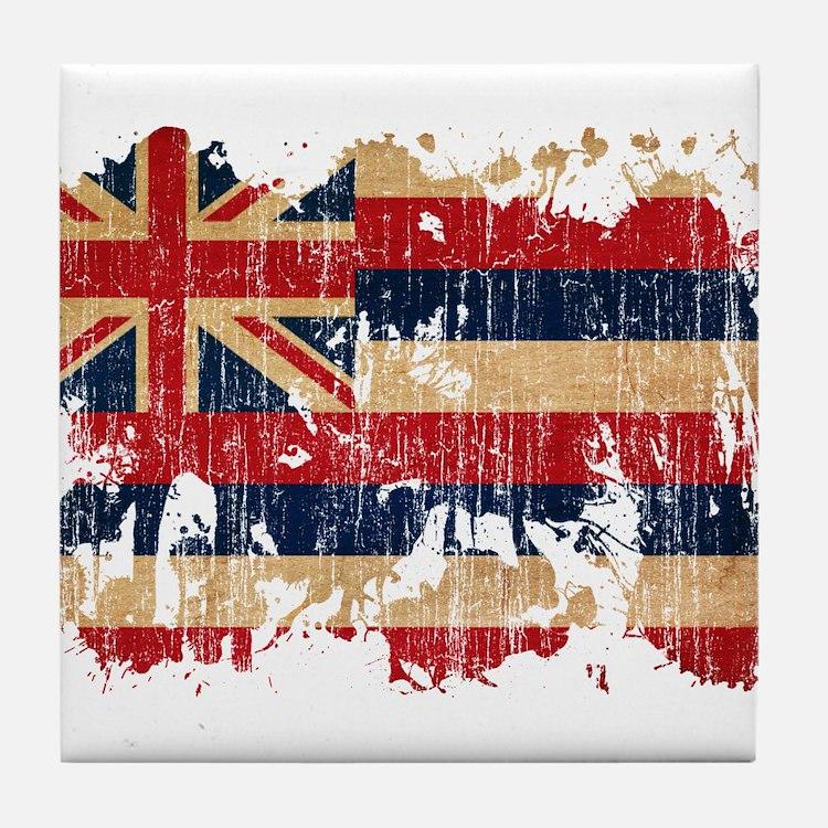 Hawaii Flag Tile Coaster