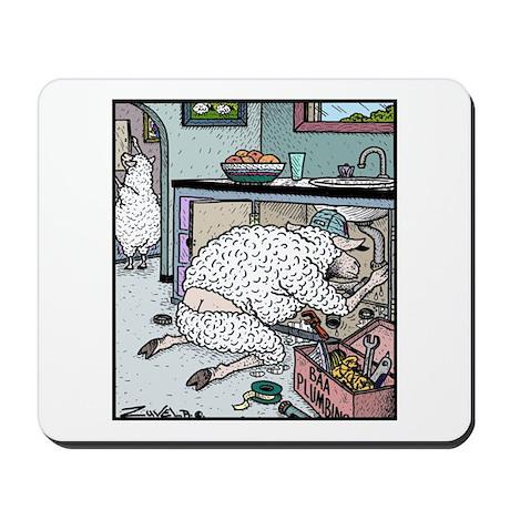 Sheep Plumber butt crack Mousepad