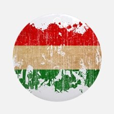 Hungary Flag Ornament (Round)