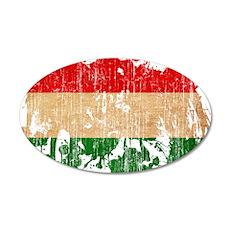 Hungary Flag 22x14 Oval Wall Peel