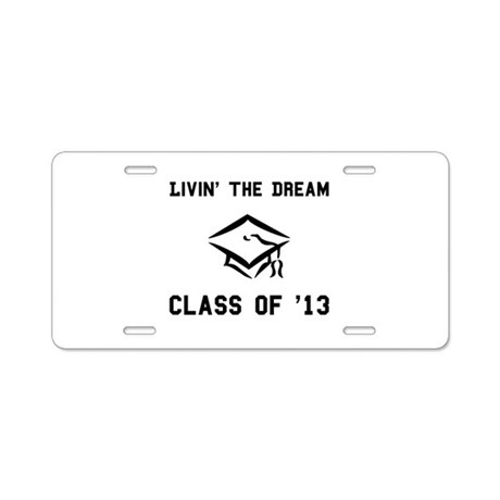 Class of 2013 Black.png Aluminum License Plate