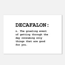 Decafalon Definition Black.png Postcards (Package