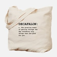 Decafalon Definition Black.png Tote Bag