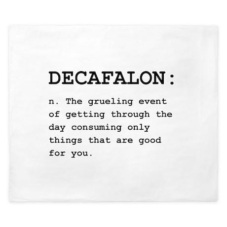 Decafalon Definition King Duvet By Theteeroom