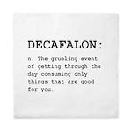 Decafalon Definition Black.png Queen Duvet