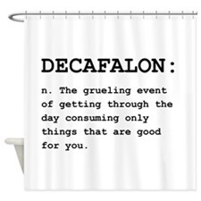 Decafalon Definition Black.png Shower Curtain