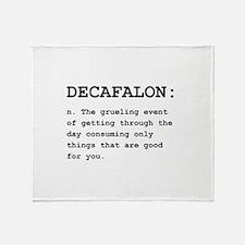 Decafalon Definition Black.png Throw Blanket