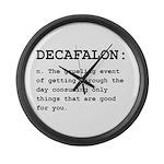 Decafalon Definition Black.png Large Wall Clock