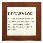 Decafalon Definition Black.png Framed Tile