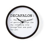 Decafalon Definition Black.png Wall Clock