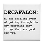 Decafalon Definition Black.png Tile Coaster