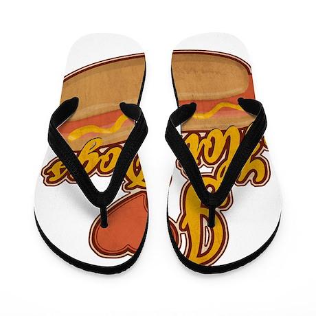 ILoveHotdogs.png Flip Flops